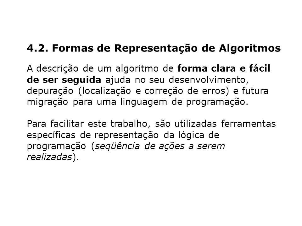 4.2. Formas de Representação de Algoritmos