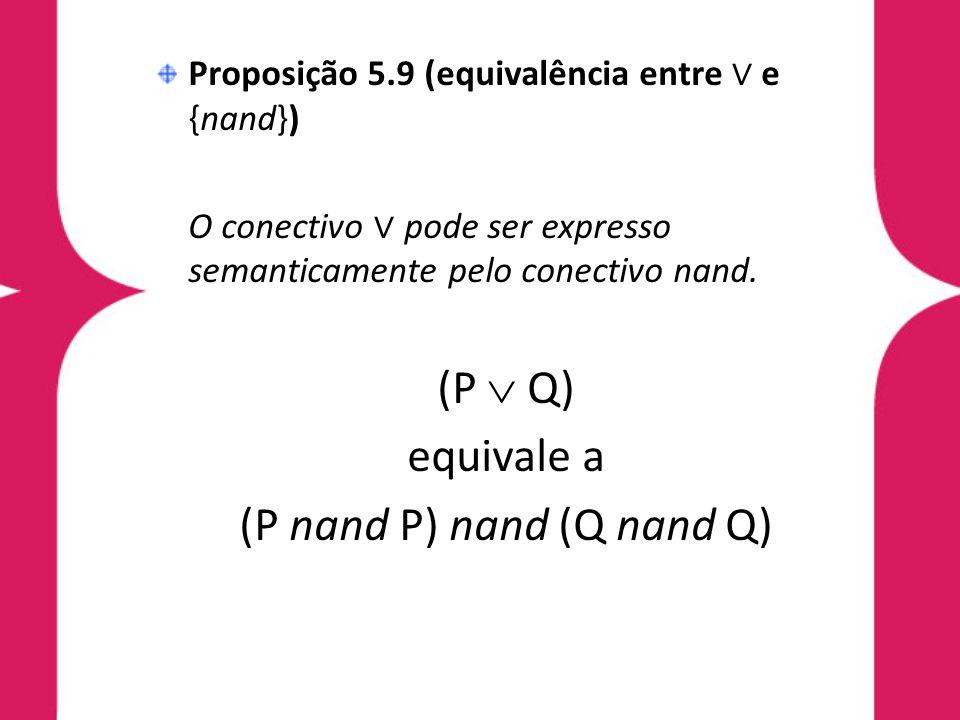 (P nand P) nand (Q nand Q)
