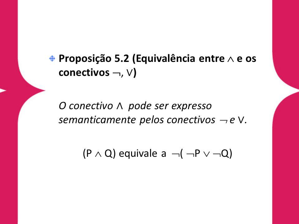 (P  Q) equivale a ( P  Q)