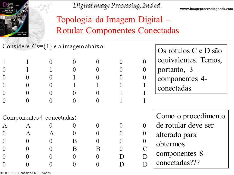 Topologia da Imagem Digital – Rotular Componentes Conectadas