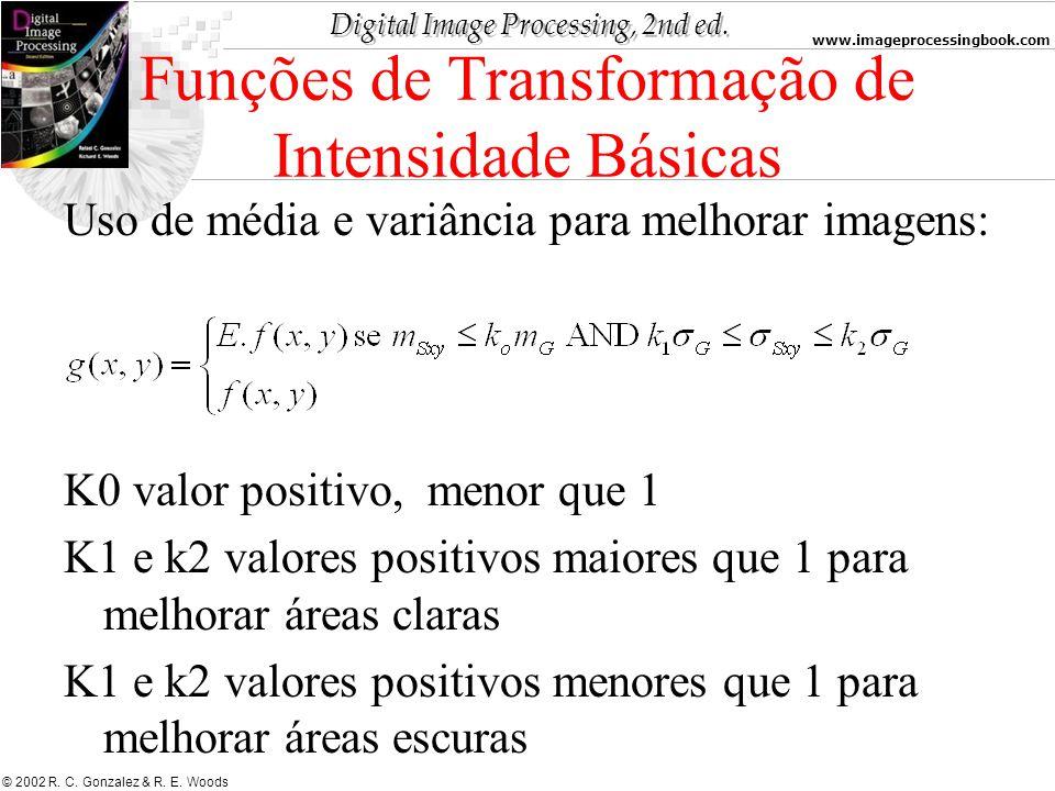 Funções de Transformação de Intensidade Básicas