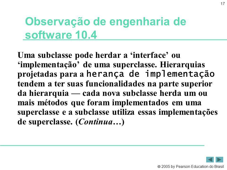 Observação de engenharia de software 10.4
