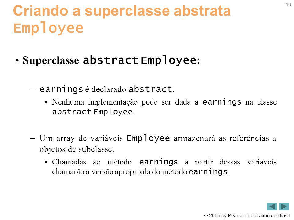 Criando a superclasse abstrata Employee