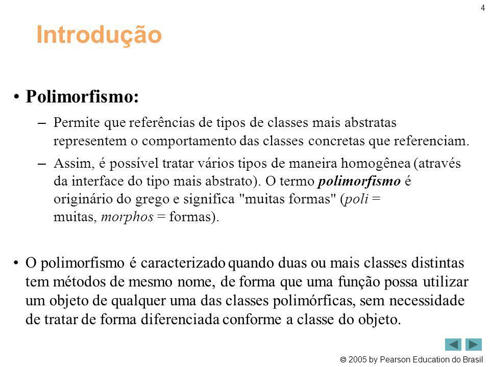 Introdução Polimorfismo: