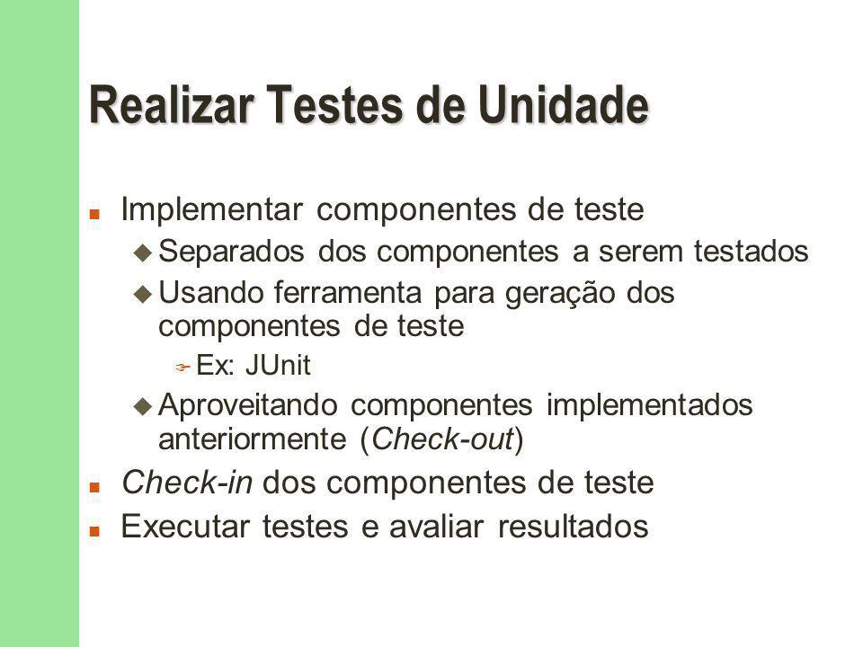 Realizar Testes de Unidade
