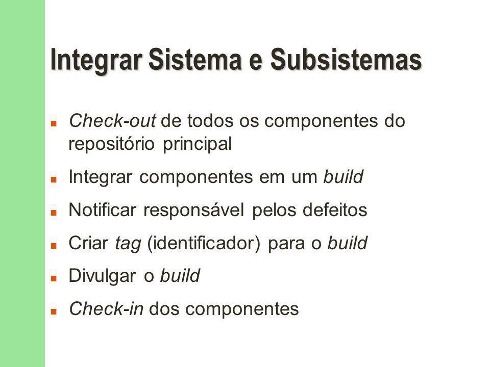 Integrar Sistema e Subsistemas