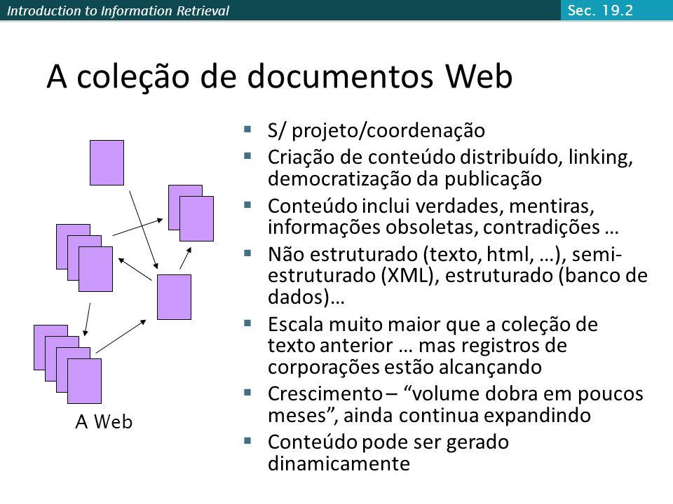 A coleção de documentos Web