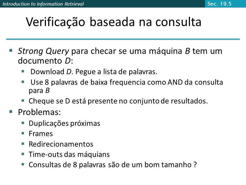 Verificação baseada na consulta