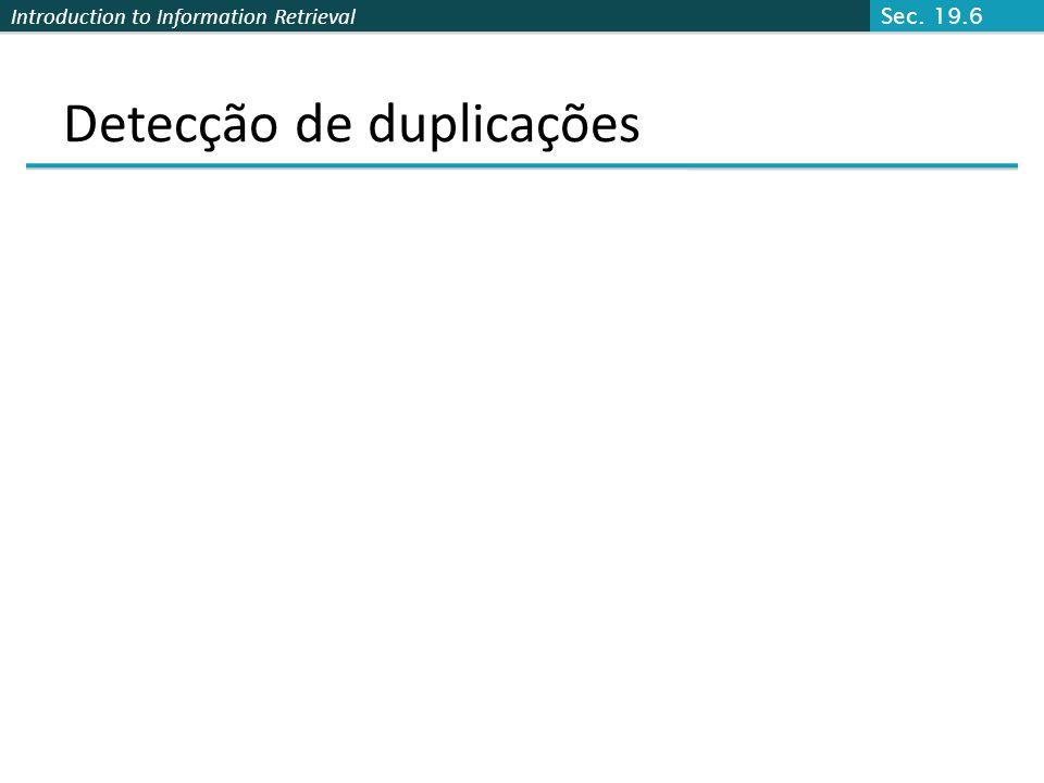 Detecção de duplicações