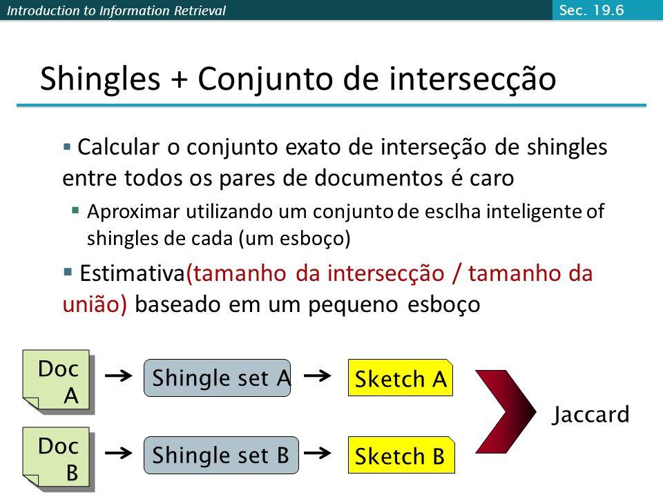 Shingles + Conjunto de intersecção