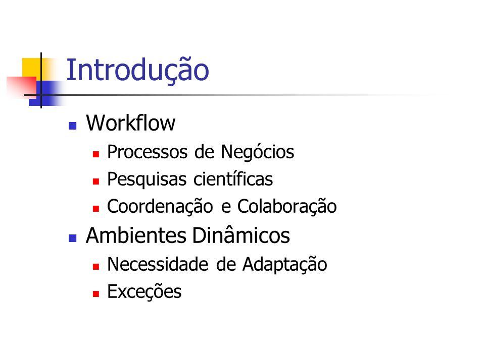 Introdução Workflow Ambientes Dinâmicos Processos de Negócios
