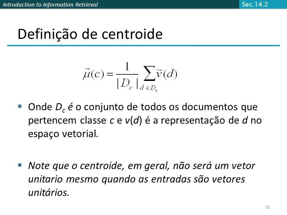 Definição de centroide