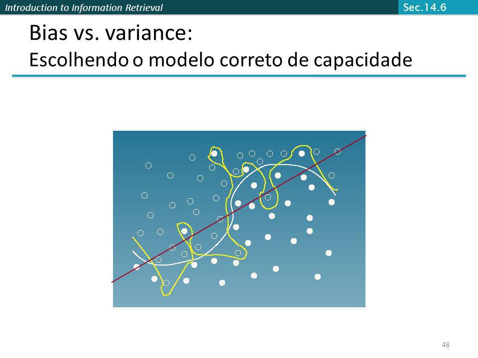Bias vs. variance: Escolhendo o modelo correto de capacidade