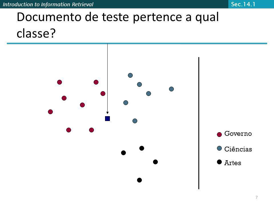 Documento de teste pertence a qual classe