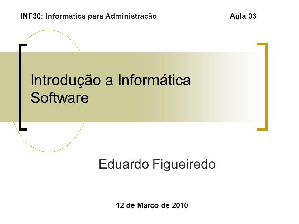 Introdução a Informática Software
