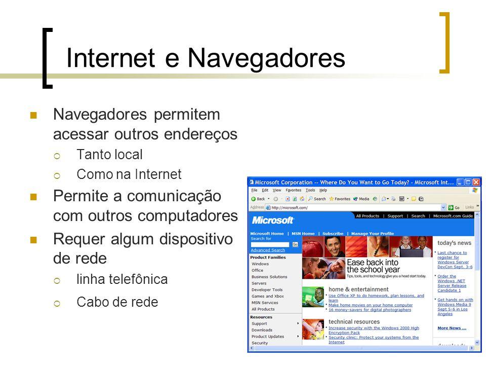 Internet e Navegadores