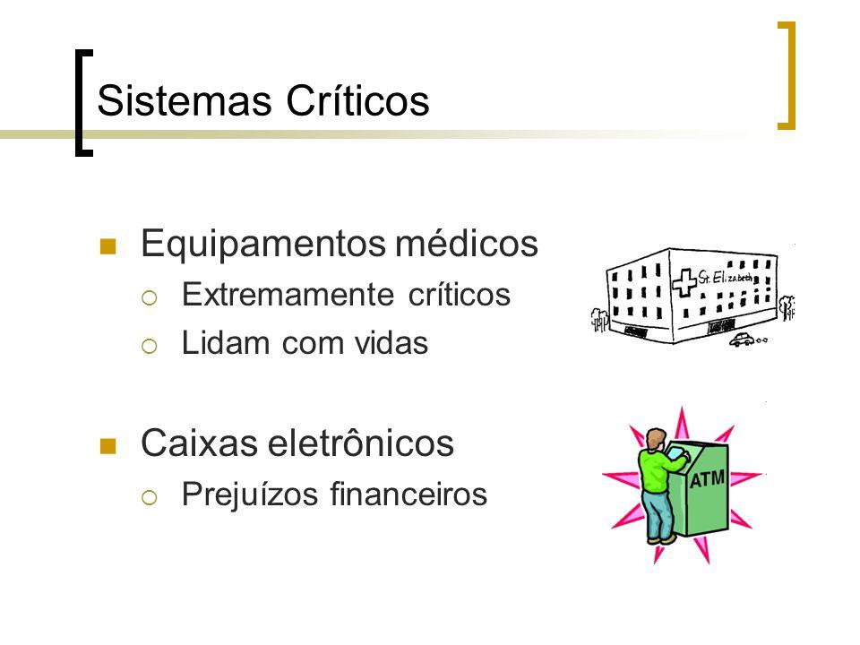 Sistemas Críticos Equipamentos médicos Caixas eletrônicos
