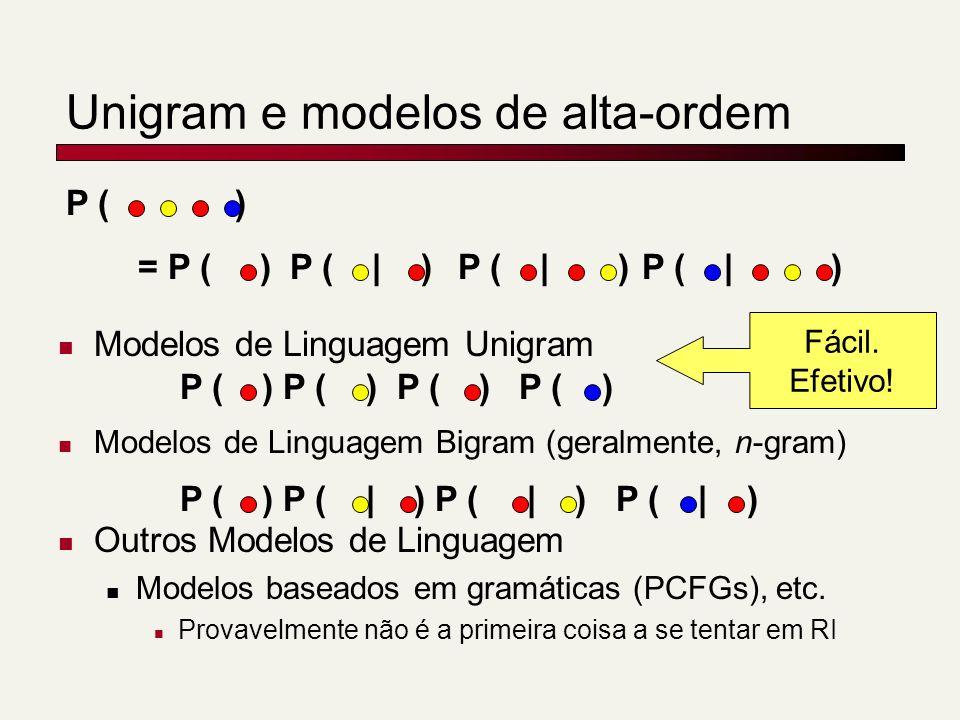 Unigram e modelos de alta-ordem