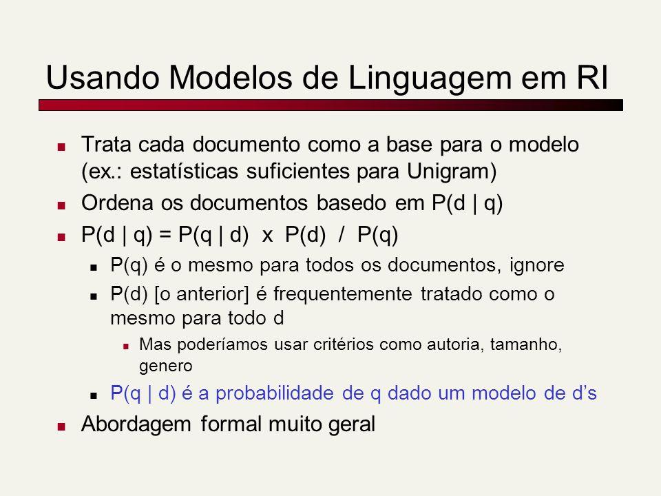 Usando Modelos de Linguagem em RI