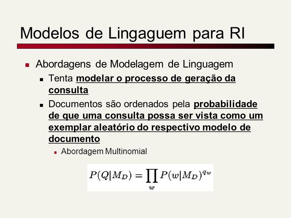 Modelos de Lingaguem para RI