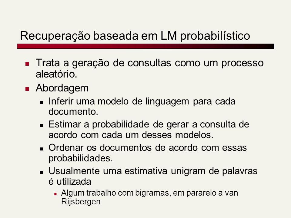 Recuperação baseada em LM probabilístico