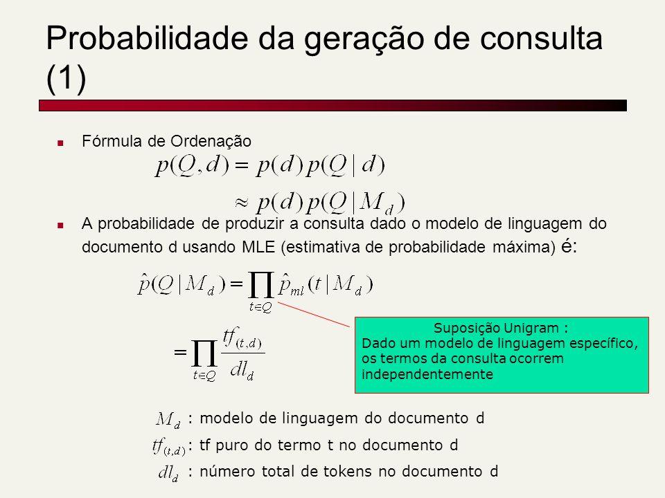 Probabilidade da geração de consulta (1)