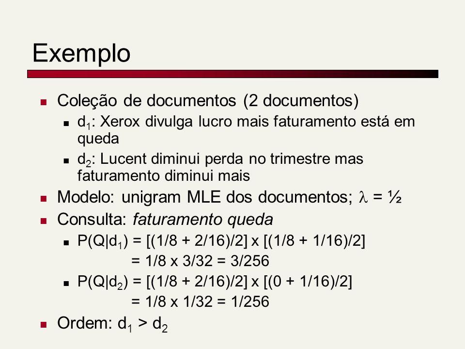 Exemplo Coleção de documentos (2 documentos)