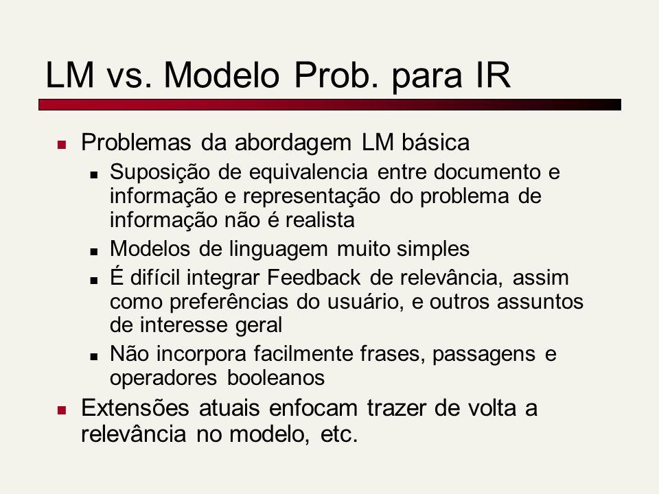 LM vs. Modelo Prob. para IR