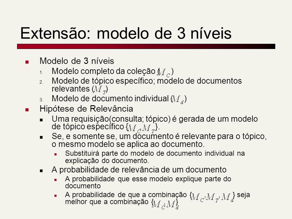 Extensão: modelo de 3 níveis