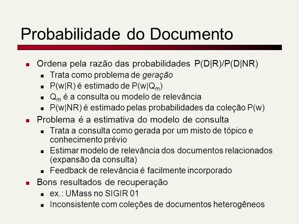 Probabilidade do Documento
