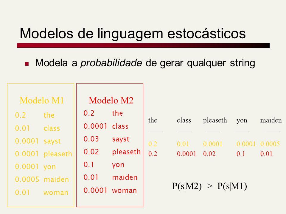 Modelos de linguagem estocásticos