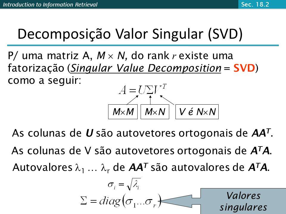 Decomposição Valor Singular (SVD)