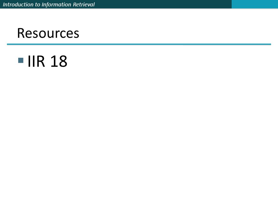 Resources IIR 18