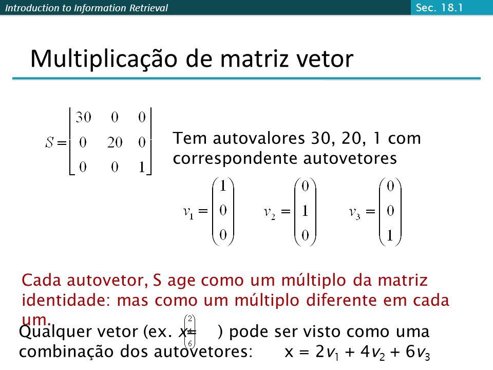 Multiplicação de matriz vetor