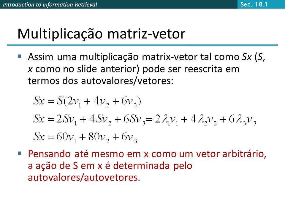 Multiplicação matriz-vetor