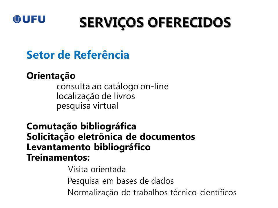 Setor de Referência Orientação consulta ao catálogo on-line