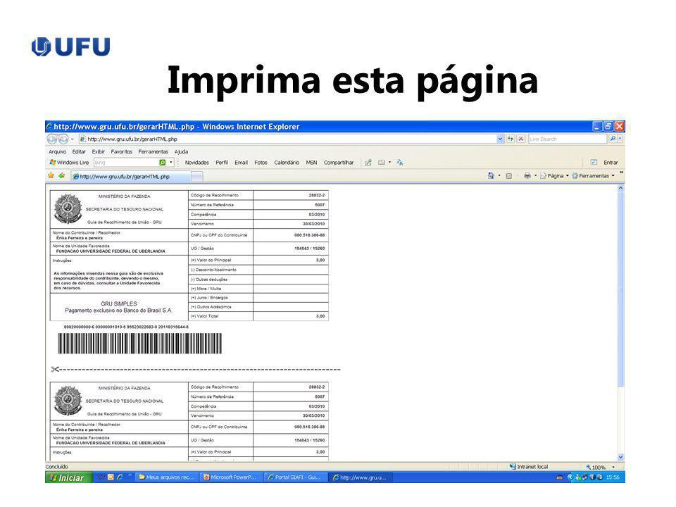 Imprima esta página