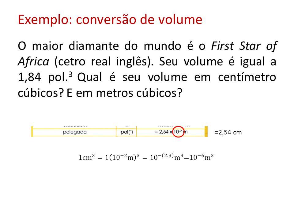 Exemplo: conversão de volume