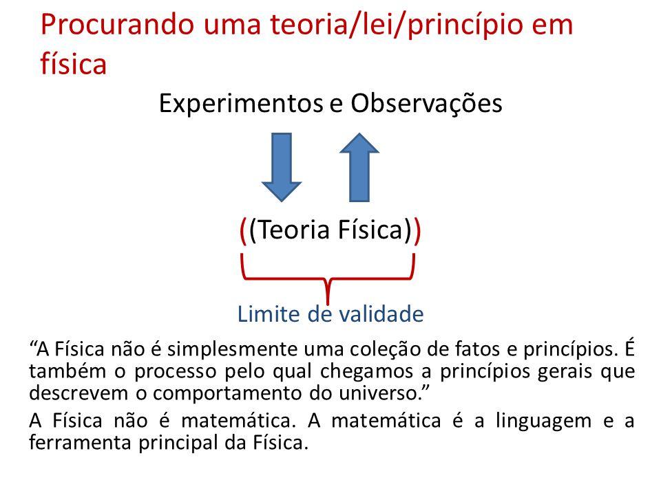 Procurando uma teoria/lei/princípio em física