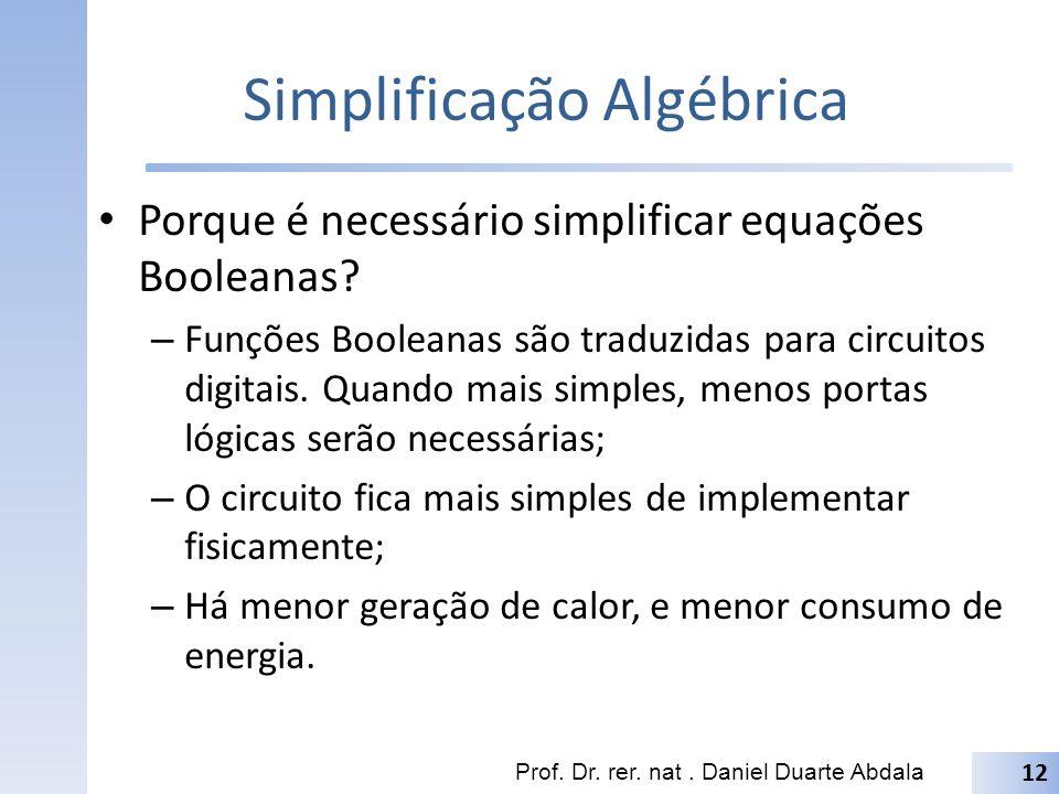 Simplificação Algébrica