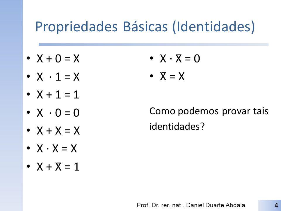 Propriedades Básicas (Identidades)