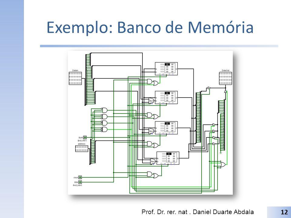 Exemplo: Banco de Memória
