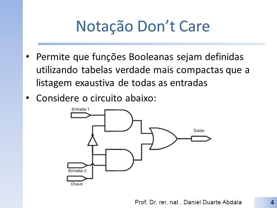 Notação Don't Care