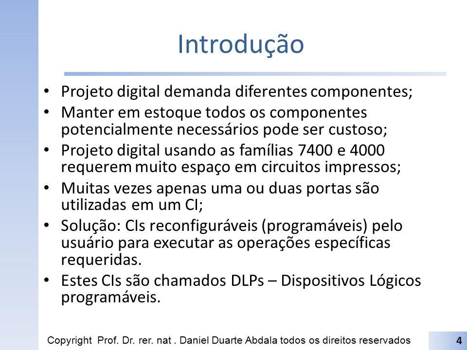 Introdução Projeto digital demanda diferentes componentes;