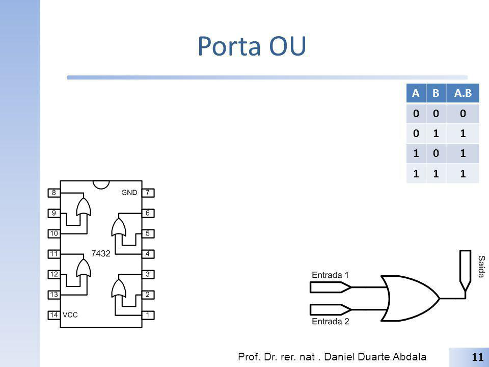 Porta OU A B A.B 1 Prof. Dr. rer. nat . Daniel Duarte Abdala