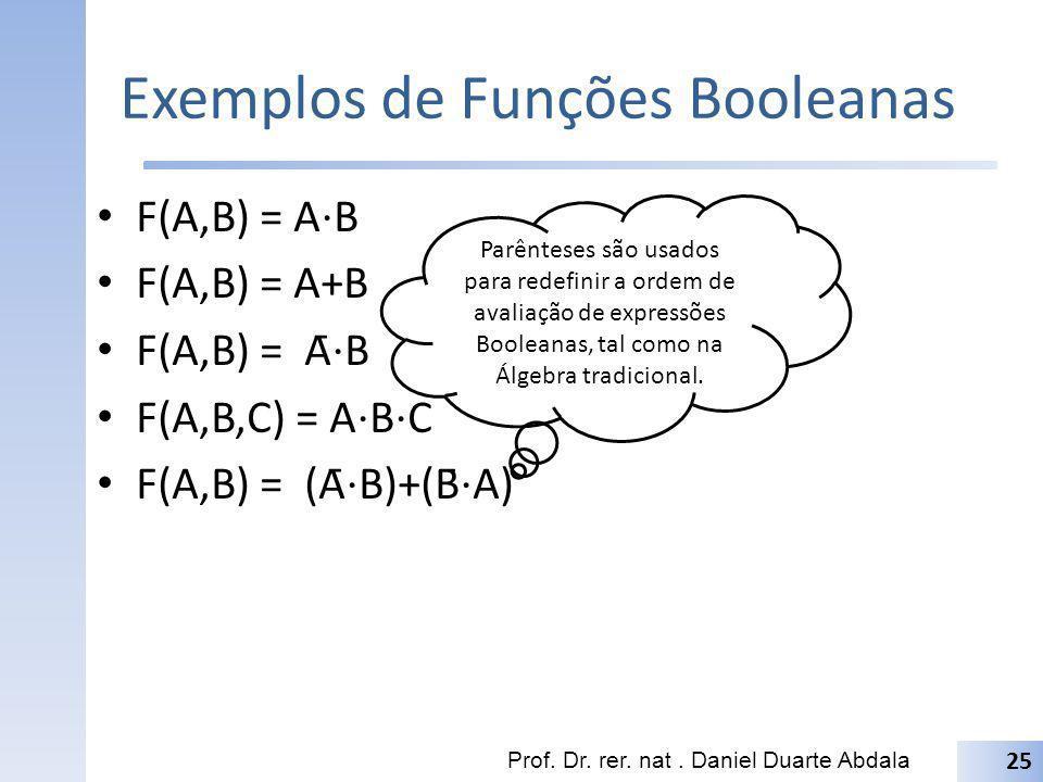 Exemplos de Funções Booleanas