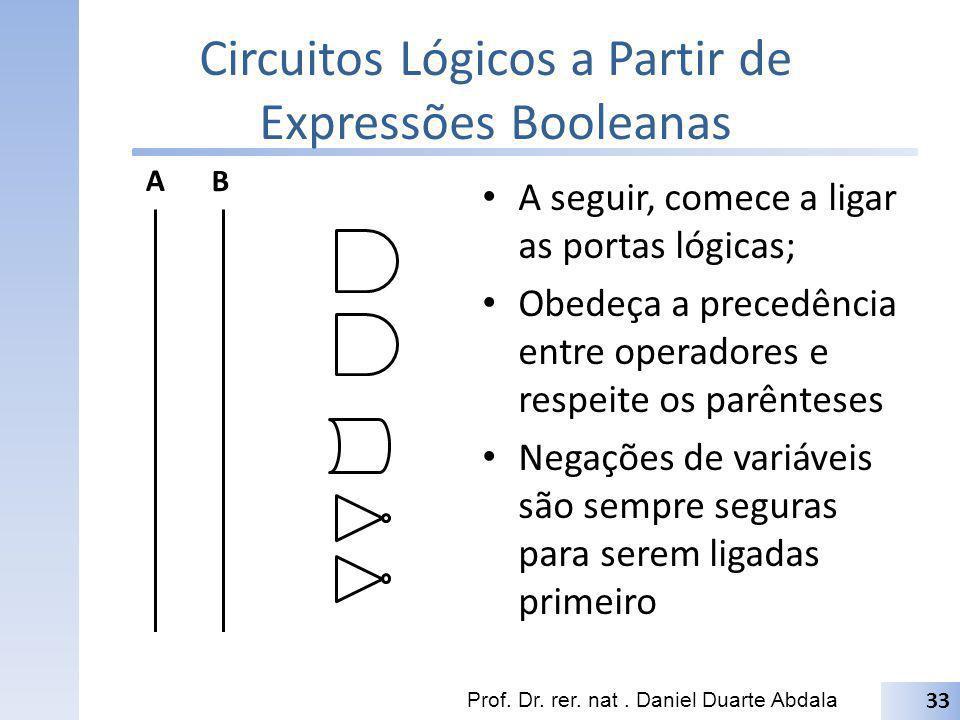 Circuitos Lógicos a Partir de Expressões Booleanas