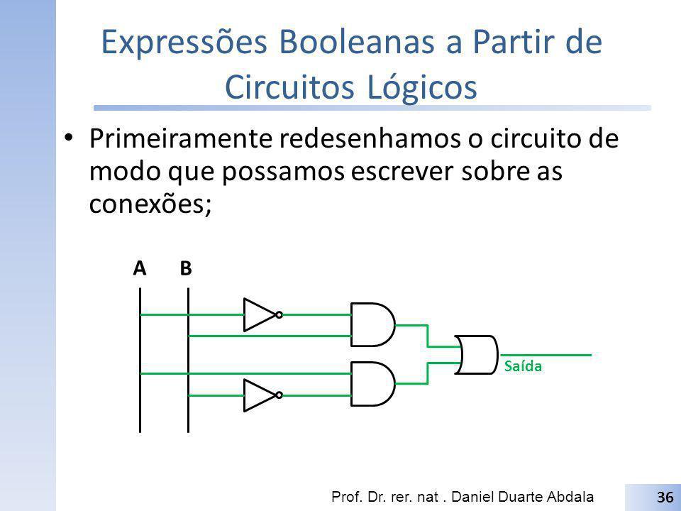 Expressões Booleanas a Partir de Circuitos Lógicos
