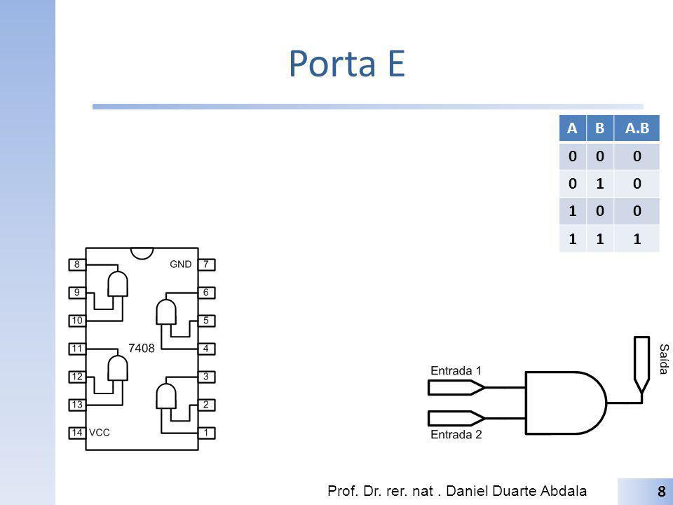 Porta E A B A.B 1 Prof. Dr. rer. nat . Daniel Duarte Abdala