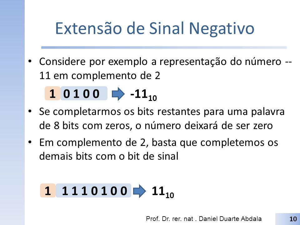 Extensão de Sinal Negativo